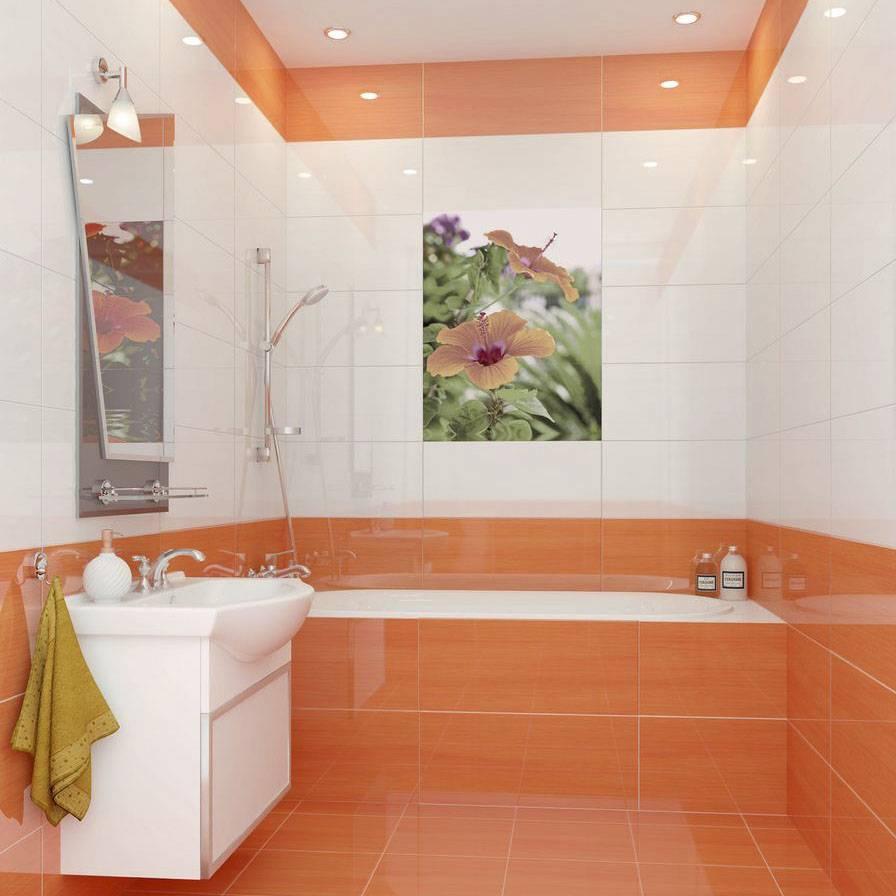 Дизайн кафельной плитки в ванной