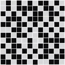 Декор ENERGY Mosaico Black-Blanco 30х30