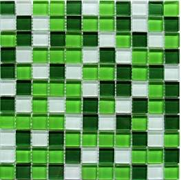 Мозаика Arco стекло Crystal White Green 30x30x0,4