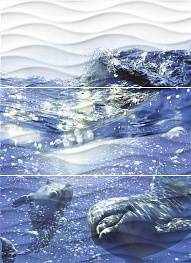 Декор Wave Dolphins (WA2T123D) 60x44