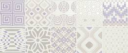Декор Milady Preinciso Patchwork White/Lilac MLWD27K 25x60